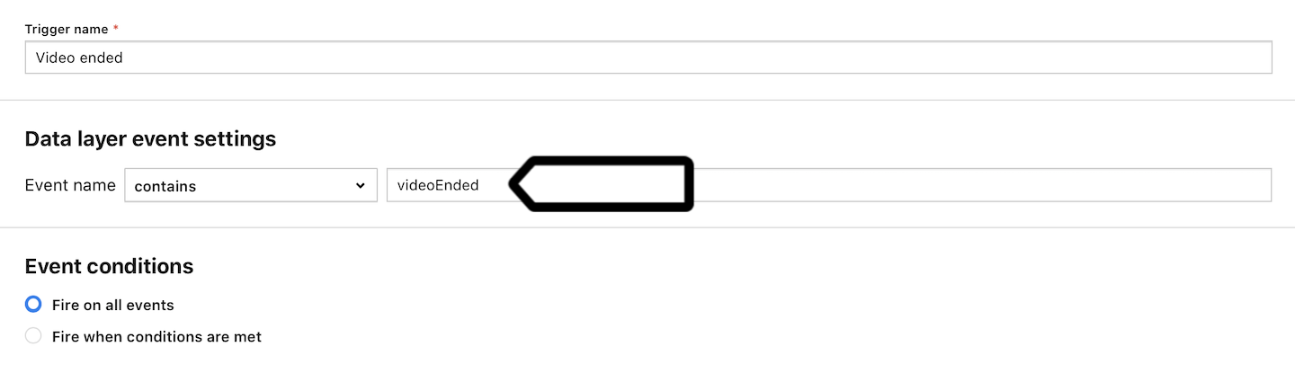 A sample trigger in Piwik PRO
