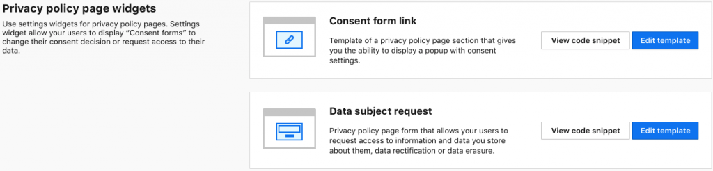 Data Subject Requests Piwik PRO Help - Privacy page template