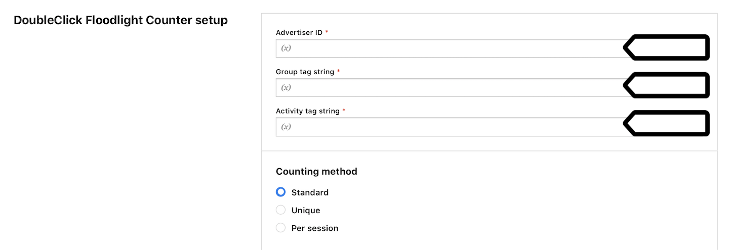 DoubleClick Floodlight Counter tag in Tag Manager in Piwik PRO