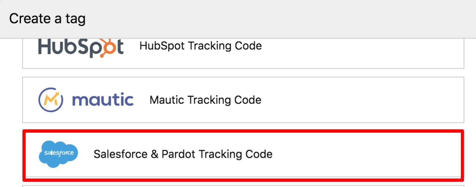 Salesforce Pardot Tracking Code Piwik Pro Help