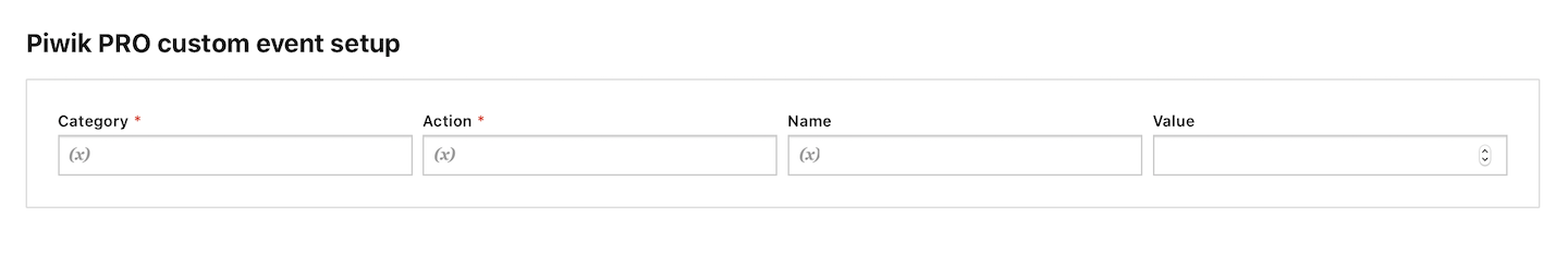 Custom event tag in Tag Manager in Piwik PRO
