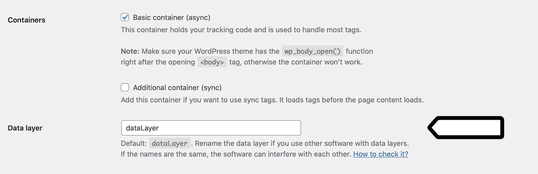Data layer in the WordPress plugin