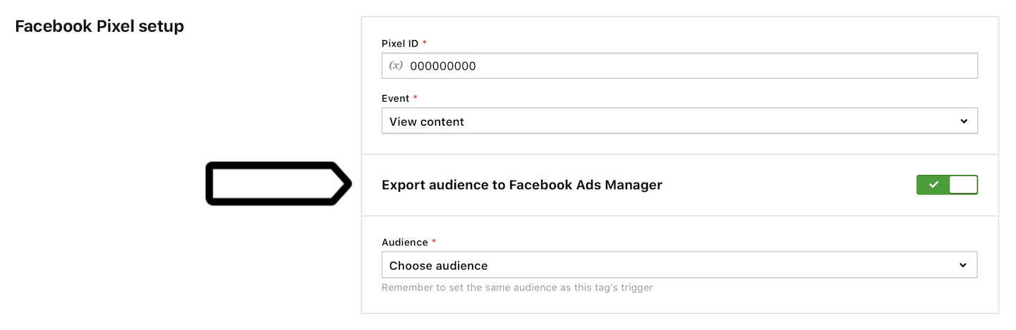Export an audience to Facebook