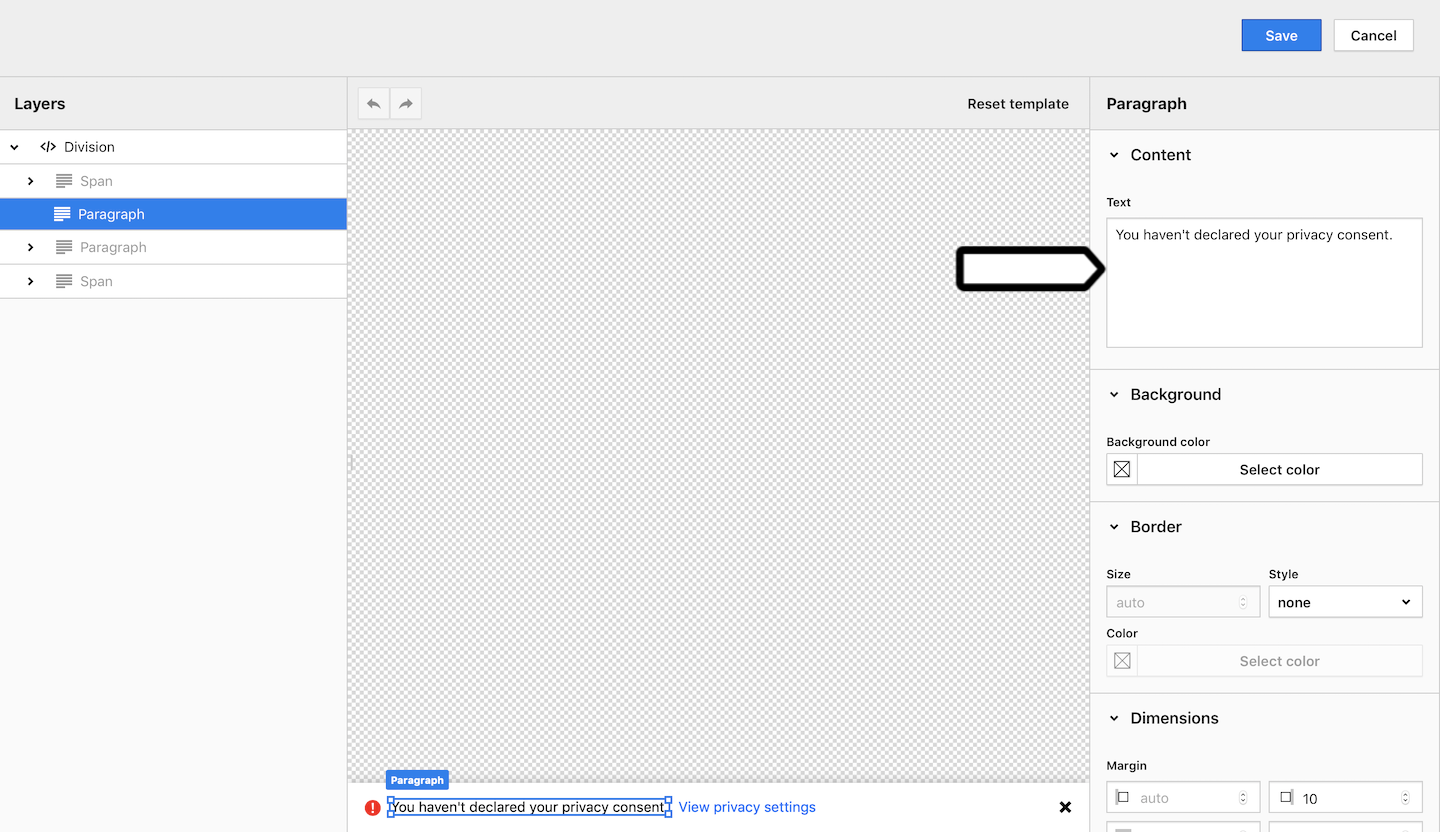 Reminder widget in Consent Manager in Piwik PRO