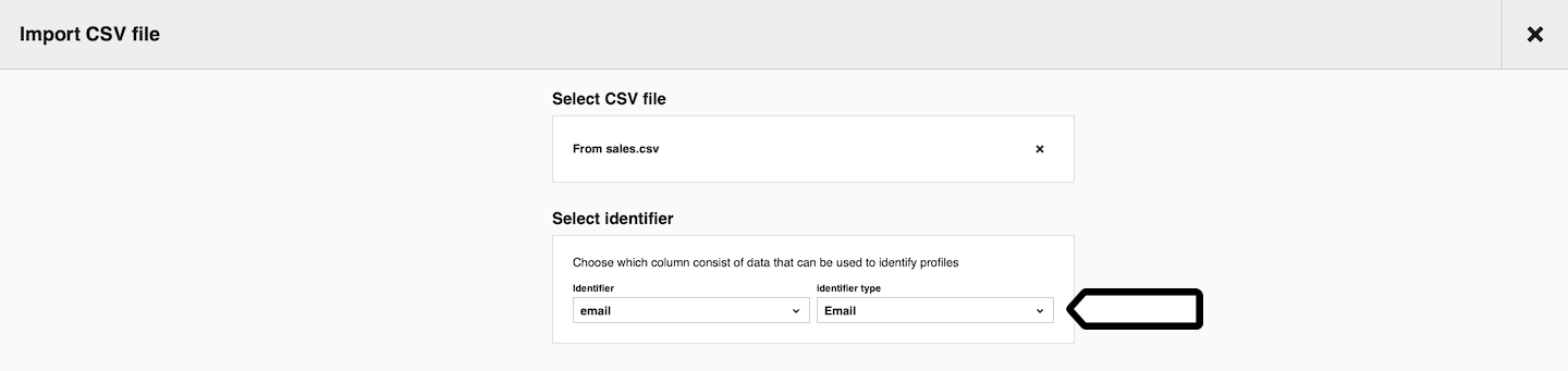 Import CSV file in Audience Manager in Piwik PRO