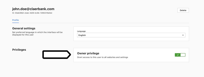 Add a user in Piwik PRO