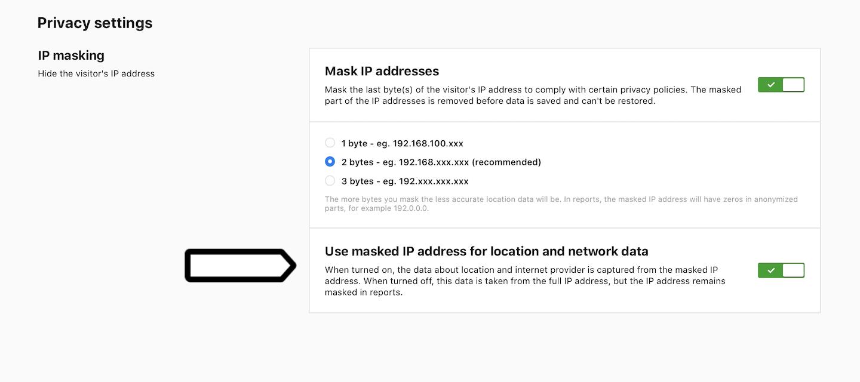 IP masking in Piwik PRO