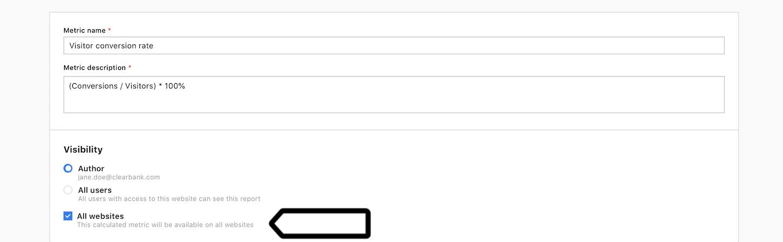 Calculated metrics in Piwik PRO
