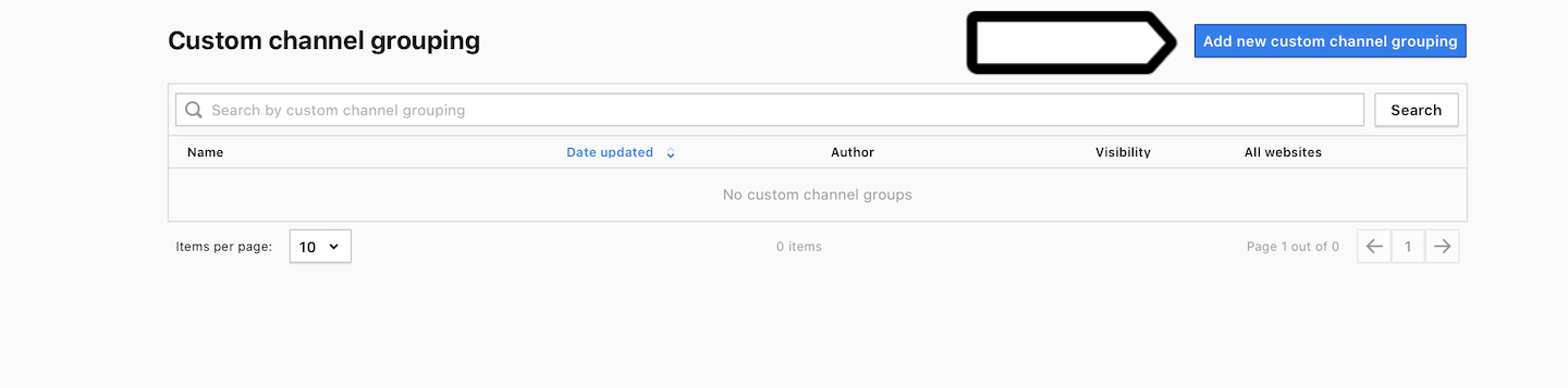 Custom channel grouping in Piwik PRO