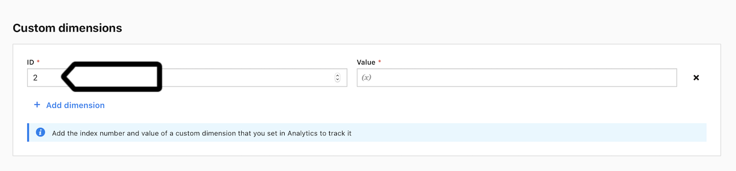 Custom dimension in the tracking code in Piwik PRO