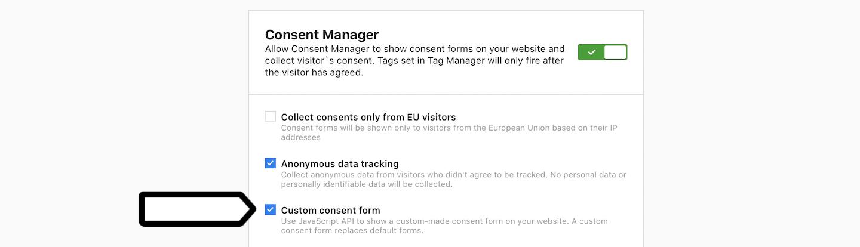 Custom consent form in Piwik PRO