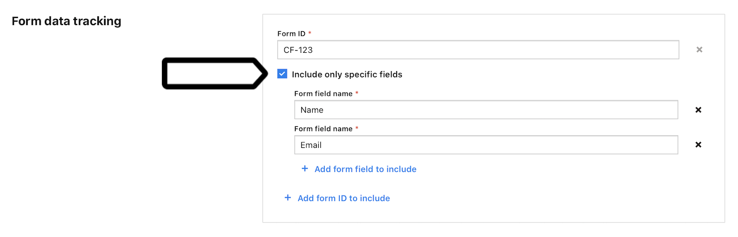 Audience Manager form tracking in Piwik PRO