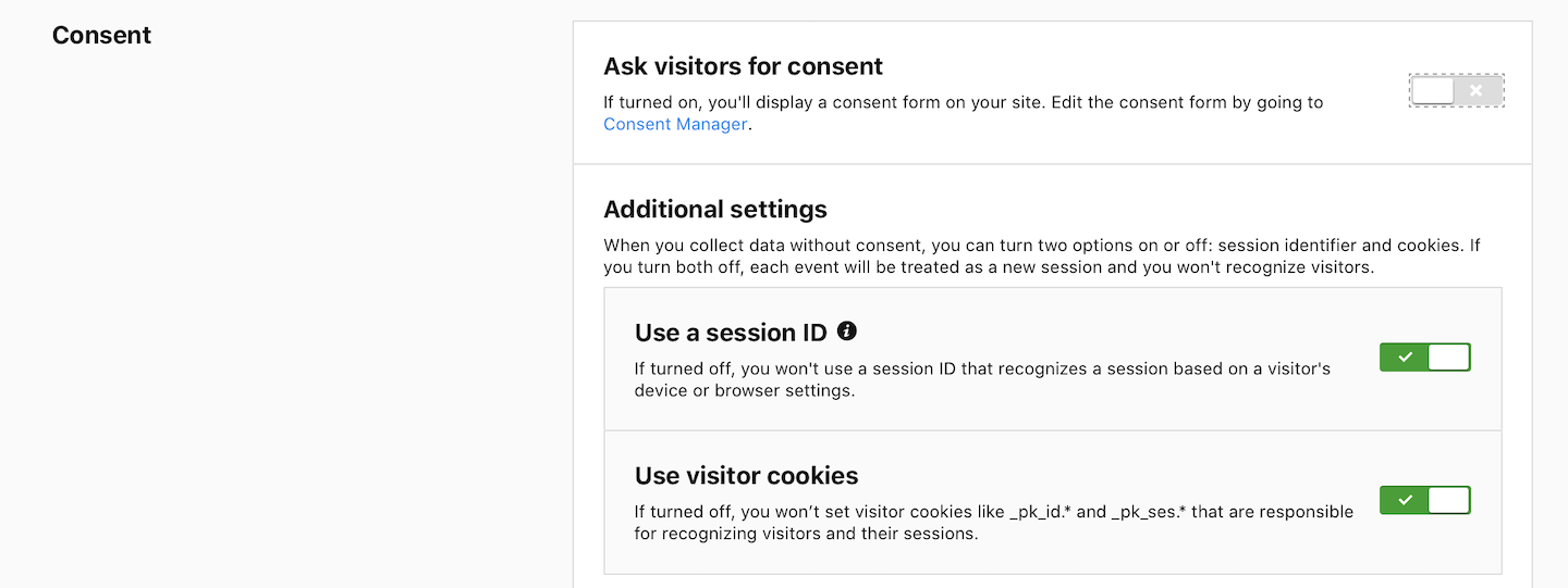 Privacy option: Ask visitors for consent (off)