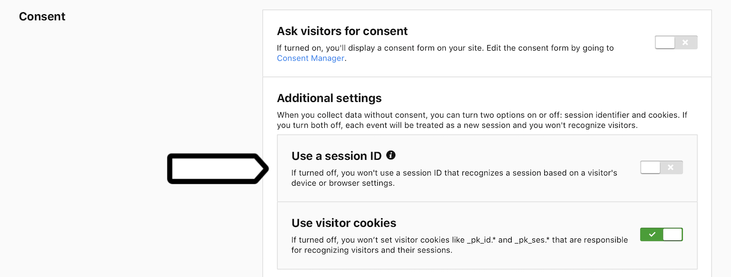 Use a session ID (off)