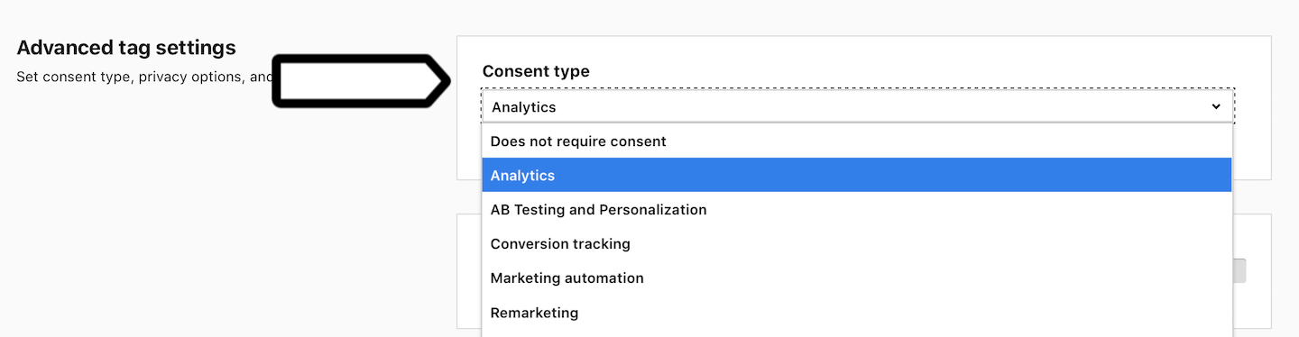 Consent types in Piwik PRO
