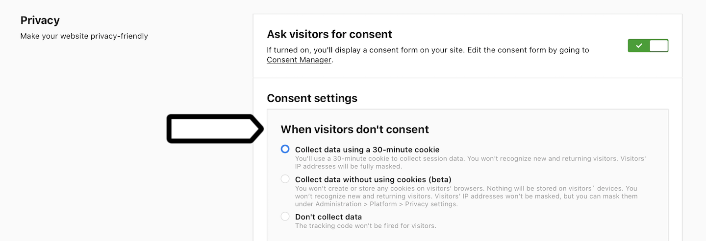 When visitors don't consent