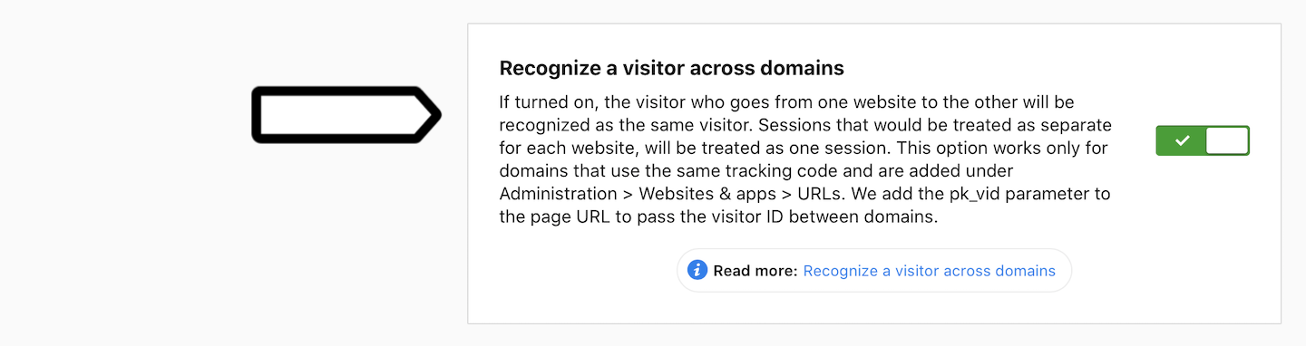 Recognize a visitor across domains in Piwik PRO