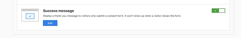 Consent form (success message)