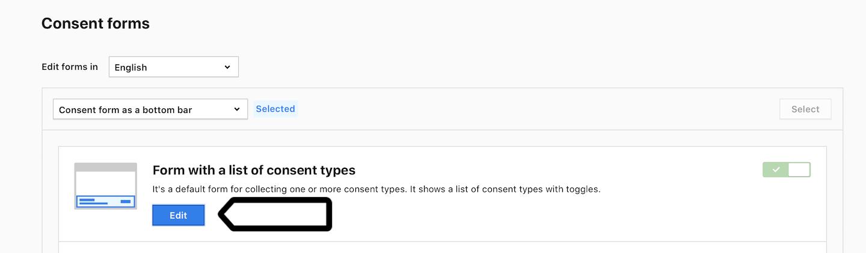 Edit a consent form