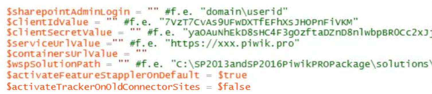 SharePoint integration (script)