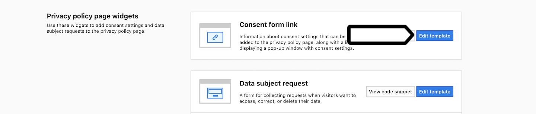 Privacy settings (edit)