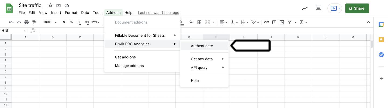 Google Sheets integration (install)