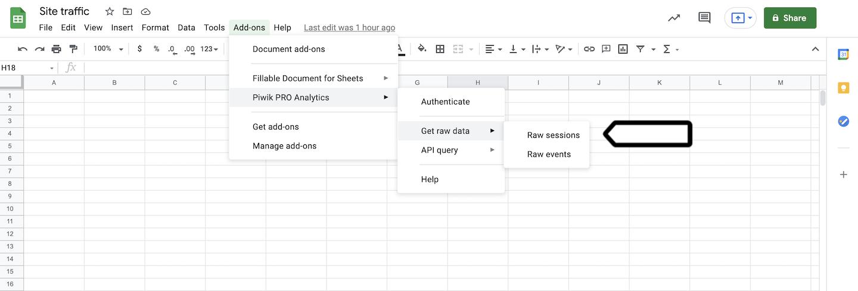 Google Sheets integration (get raw data)
