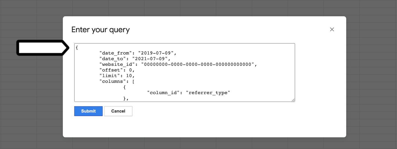 Google Sheets integration (get report data)